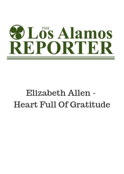 Elizabeth Allen - letter