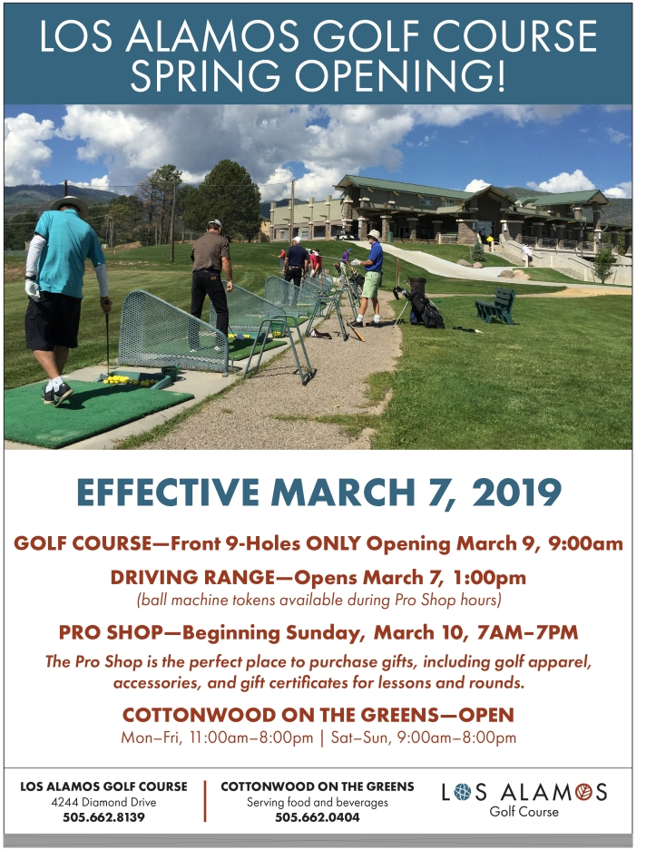 Golf Course Opening March 7 2019