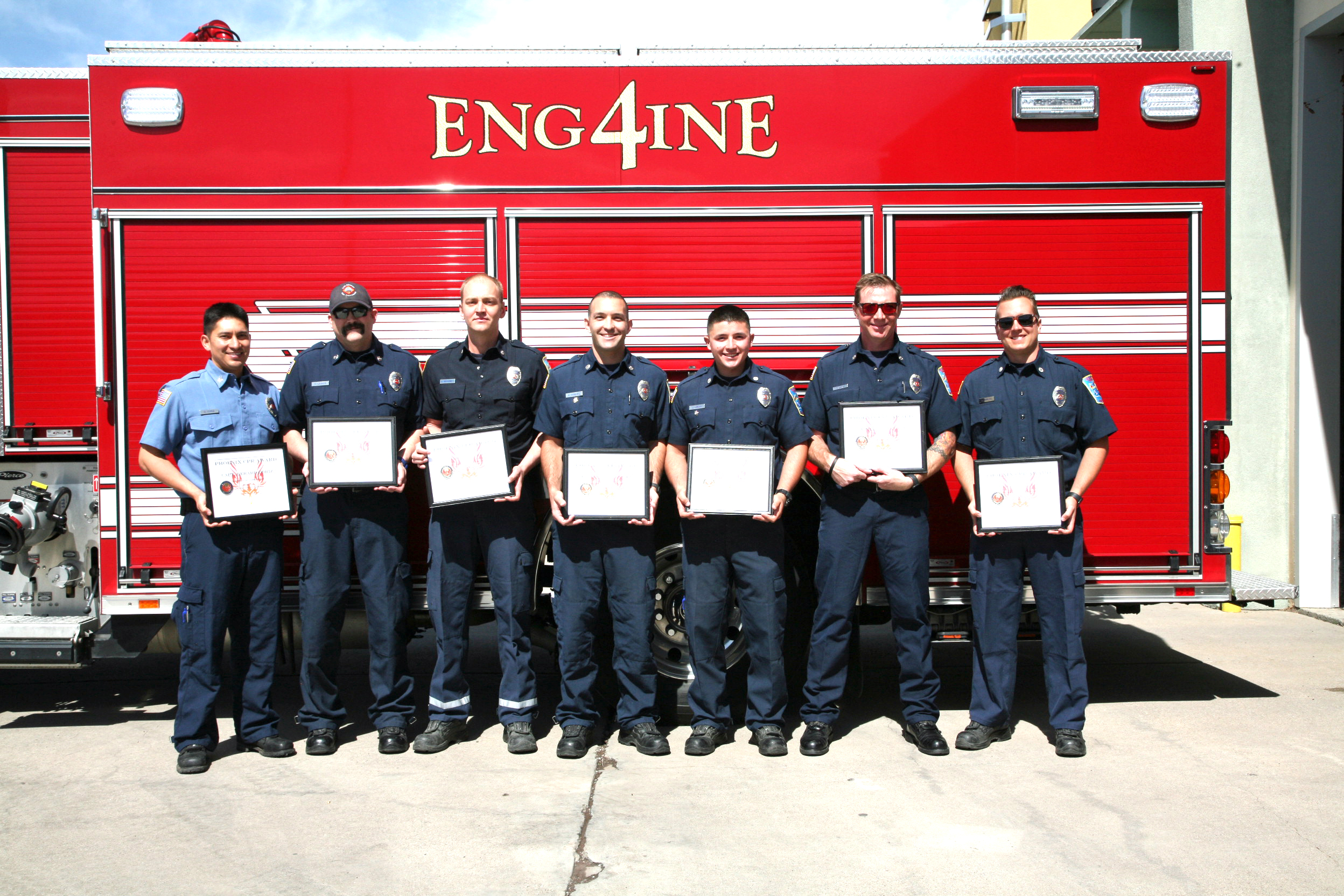 LAFD Station 4 B Shift Presented With The Phoenix Award