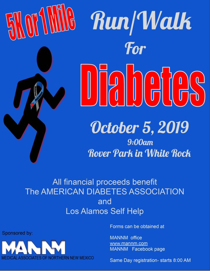 5K for Diabetes Flyer