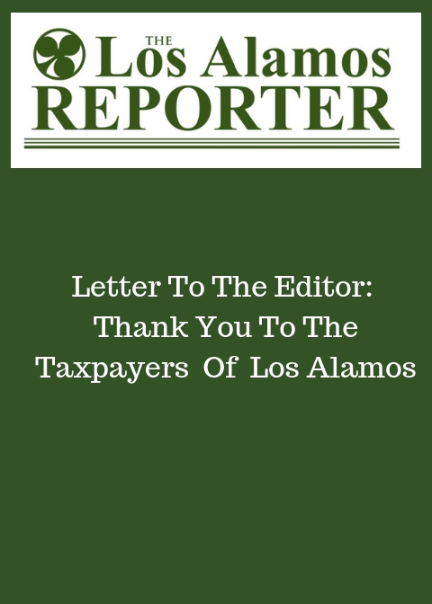Thank You To Taxpayers of Los Alamos