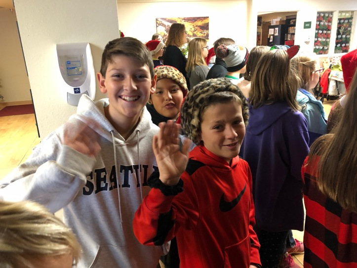 Fifth graders enjoyed spreading the spirit of the holidays.jpg