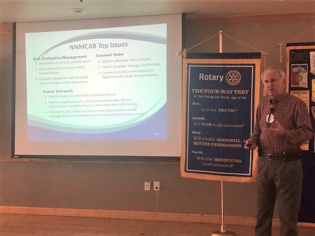 Bob Hull at Rotary, 2 February 2020