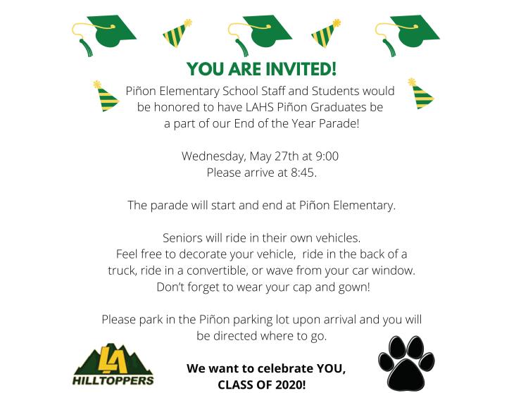 Senior Parade Invitation