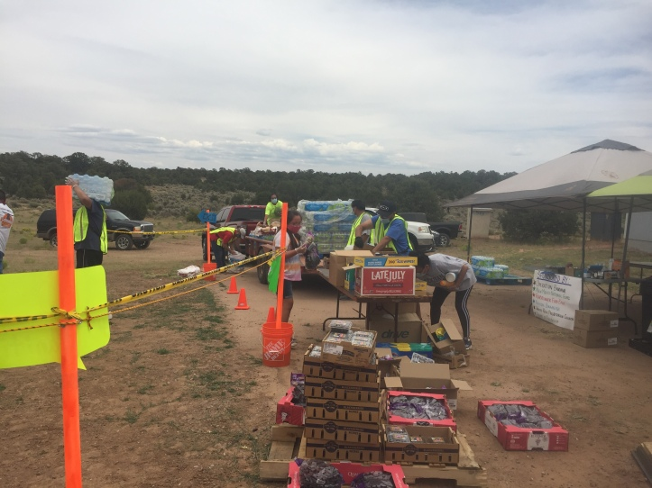 produce distribution at House of Fellowship near Bread Springs NM