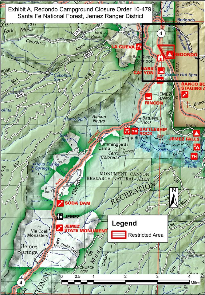 Santa Fe National Forest Announces Closure Of Redondo Campground Los Alamos Reporter