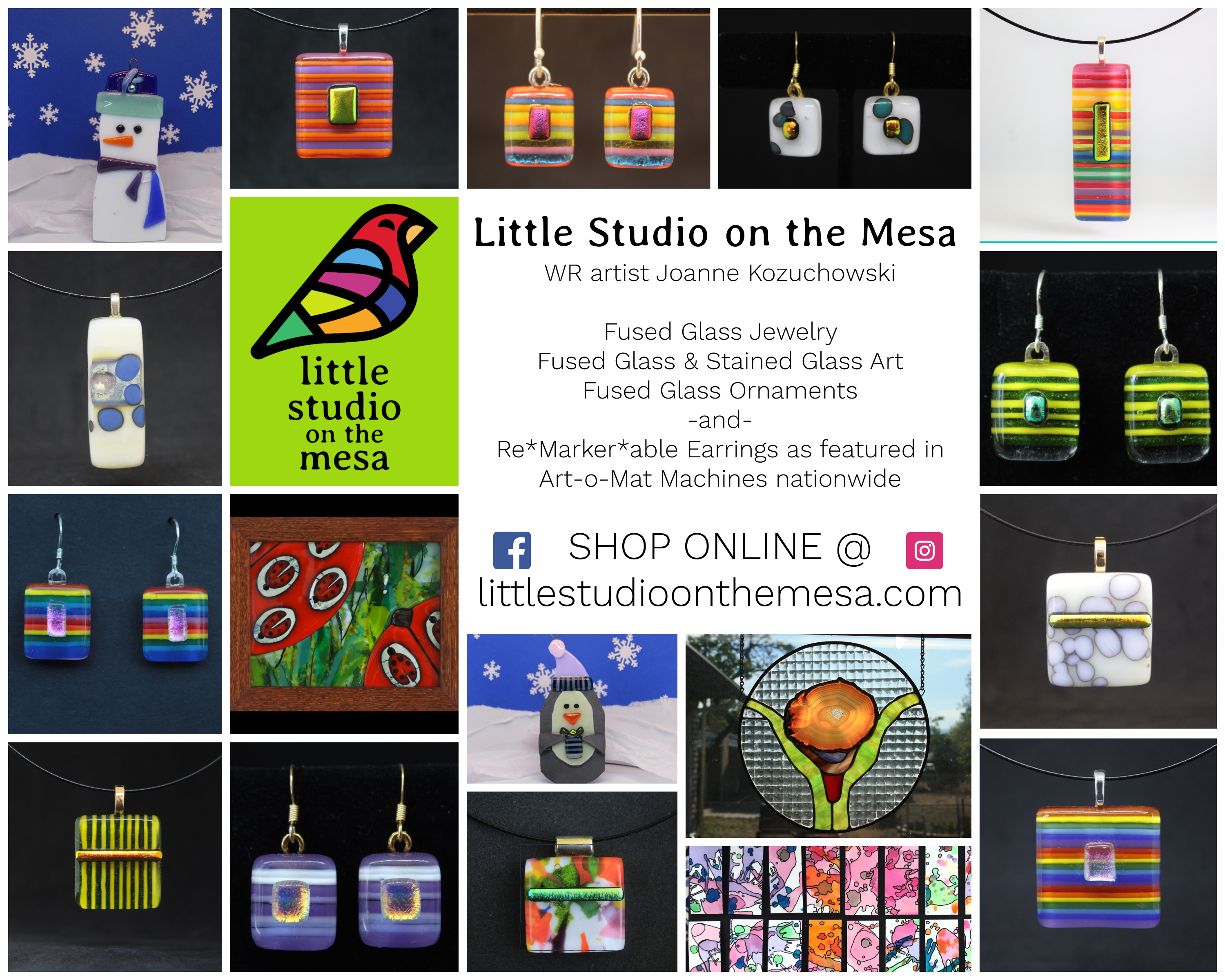 Little Studio On The Mesa Fused Glass Ornaments And More Available Online Los Alamos Reporter